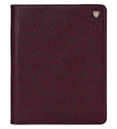 ASPINAL OF LONDON iPad Air saffiano-leather stand-up case (Burgundy