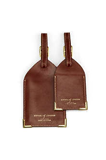ASPINAL OF LONDON Set of two leather luggage tags