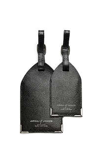 ASPINAL OF LONDON Pair of leather luggage tags