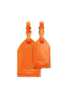 ASPINAL Pair of leather luggage tags