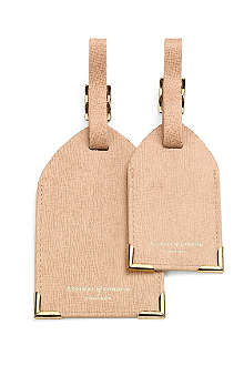 ASPINAL OF LONDON Pair of saffiano leather luggage tags