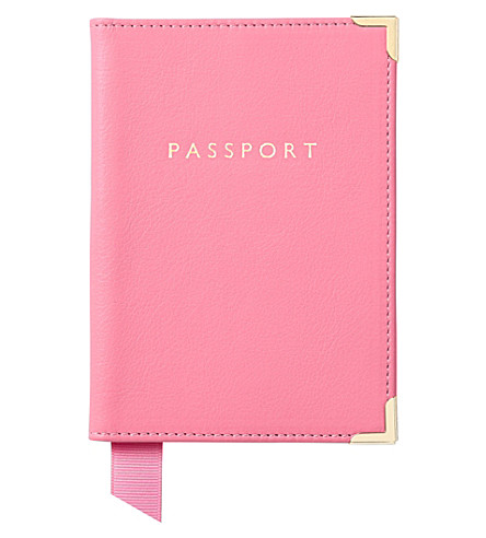 ASPINAL OF LONDON Leather passport cover (Blossom