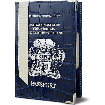 ASPINAL Mock crocodile UK passport cover