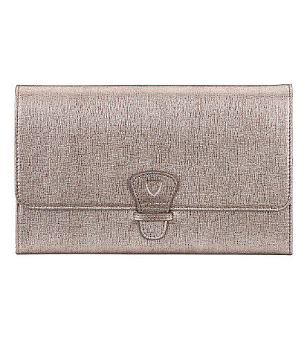 ASPINAL OF LONDON Classic saffiano leather travel wallet (Grey
