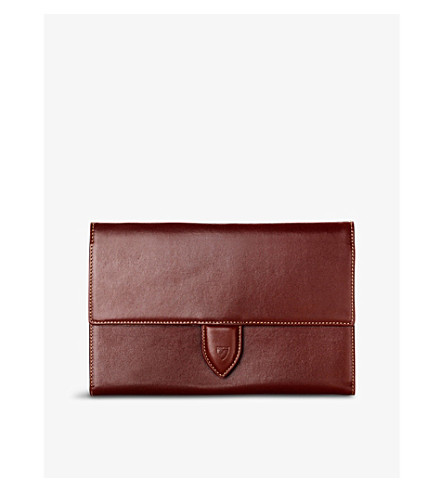 ASPINAL OF LONDON Deluxe leather travel wallet (Cognac