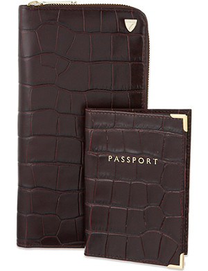 ASPINAL OF LONDON Travel wallet and passport cover