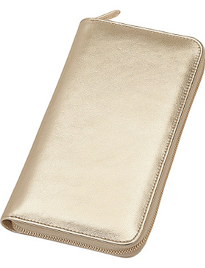 ASPINAL OF LONDON Zipped nappa-leather travel wallet with passport cover