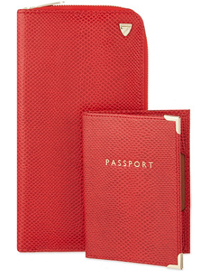 ASPINAL OF LONDON Travel wallet and passport holder