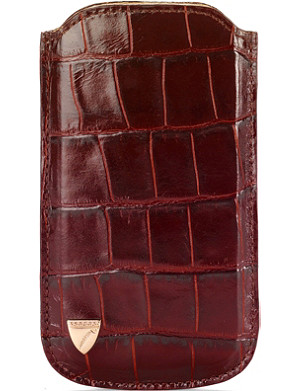 ASPINAL OF LONDON Mock-croc leather iPhone 5 case