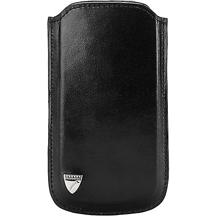 ASPINAL OF LONDON Smooth leather iPhone 5 case (Black