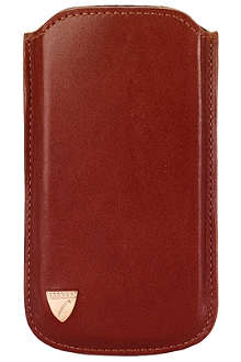 ASPINAL OF LONDON Smooth leather iPhone 5 case