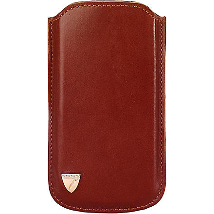 ASPINAL OF LONDON Smooth leather iPhone 5 case (Cognac