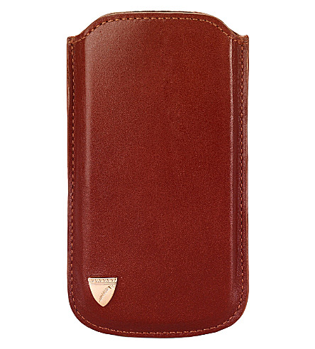 ASPINAL OF LONDON Leather iPhone 5 case (Cognac