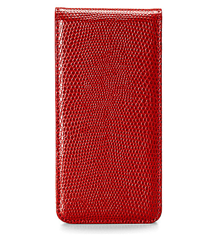 ASPINAL OF LONDON iPhone 5 flip case wallet (Red