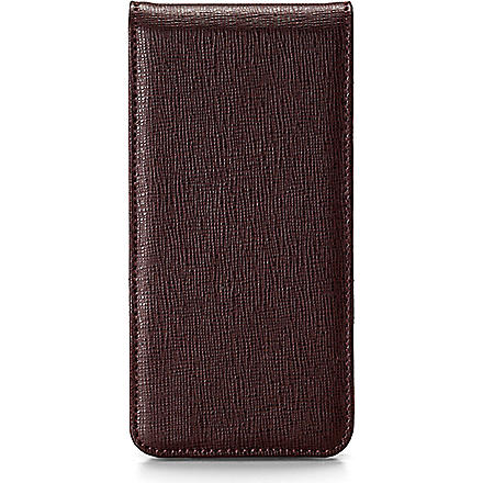 ASPINAL OF LONDON iPhone 5 flip case wallet (Brown