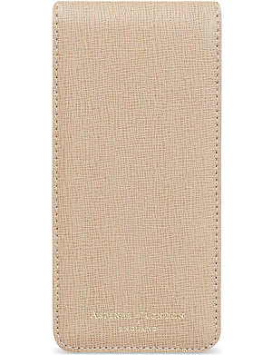 ASPINAL OF LONDON Leather iPhone 5 flip case