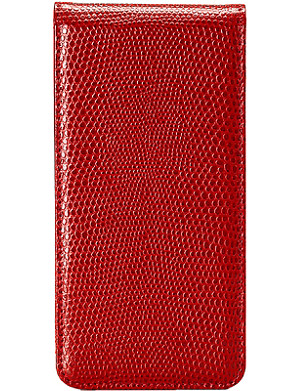ASPINAL OF LONDON Lizard-embossed leather iPhone 5 flip case