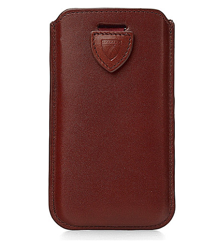ASPINAL OF LONDON iPhone 6 leather case (Cognac