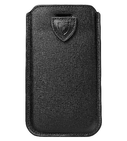 ASPINAL OF LONDON iPhone 6 Saffiano-leather case (Black
