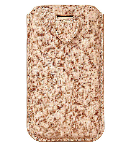 ASPINAL OF LONDON iPhone 6 saffiano-leather case (Deer