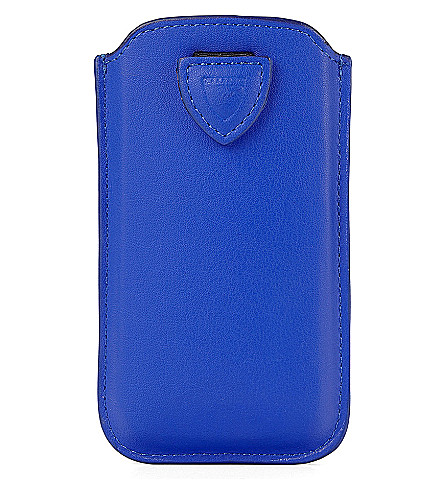 ASPINAL OF LONDON iPhone 6 leather case (Blue