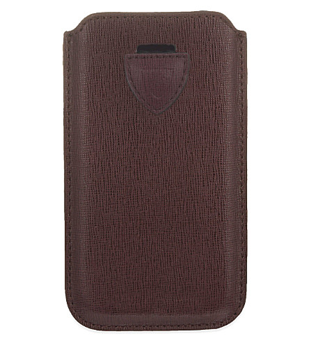 ASPINAL OF LONDON Saffiano leather iPhone 6 case (Burgundy