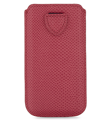 ASPINAL OF LONDON Lizard-print leather iPhone 6 case (Pink