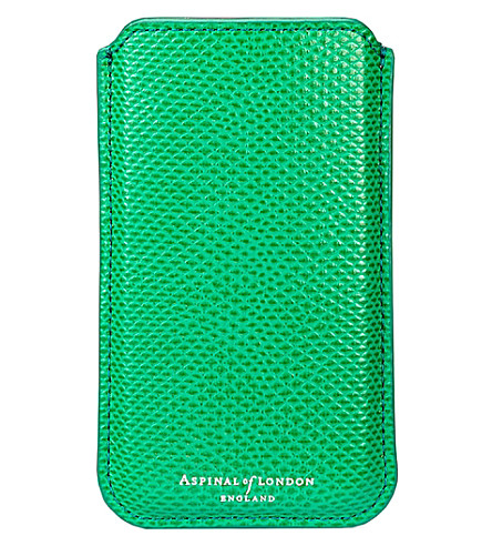 ASPINAL OF LONDON Lizard-effect leather iphone 6 case (Green
