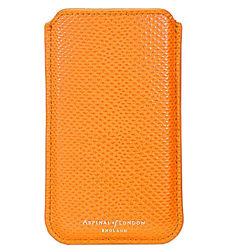 ASPINAL OF LONDON Lizard-effect leather iphone 6 case (Orange