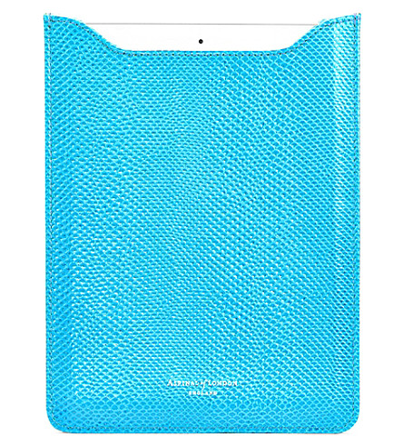 ASPINAL OF LONDON Lizard-embossed leather iPhone 6 case (Blue
