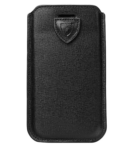 ASPINAL OF LONDON Slim-fit leather iPhone 6 Plus case (Black