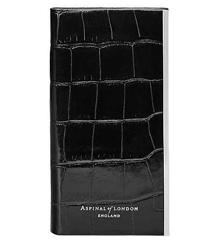 ASPINAL OF LONDON iPhone 6 croc-embossed leather book case (Black