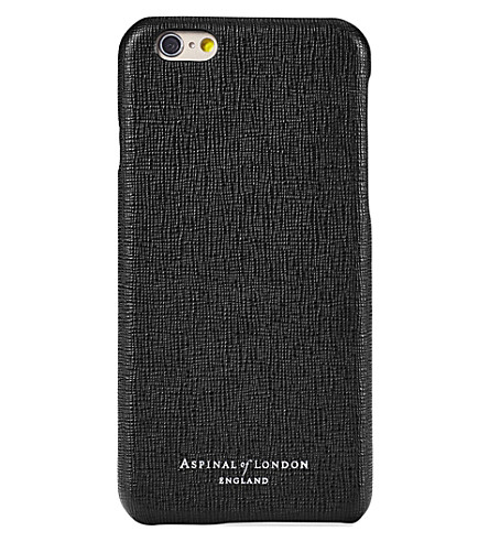 ASPINAL OF LONDON Saffiano iPhone 6/6s leather case (Black