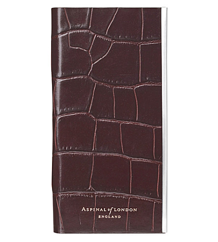ASPINAL OF LONDON Croc-embossed leather iPhone 6/6s case