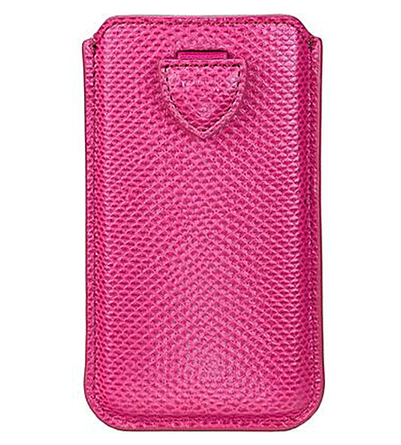 ASPINAL OF LONDON Lizard-embossed leather iPhone 6 case (Raspberry