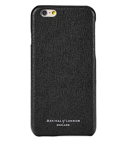ASPINAL OF LONDON Saffiano 皮革 iPhone 7 情况 (黑色