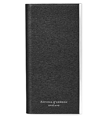 ASPINAL OF LONDON iPhone 7 saffiano leather book case (Black