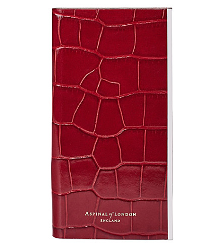 ASPINAL OF LONDON iPhone 7+ crocodile-effect leather book case (Red