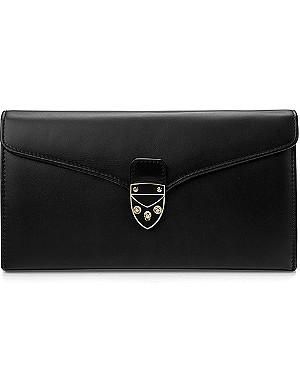 ASPINAL OF LONDON Mini Manhattan calf leather clutch bag
