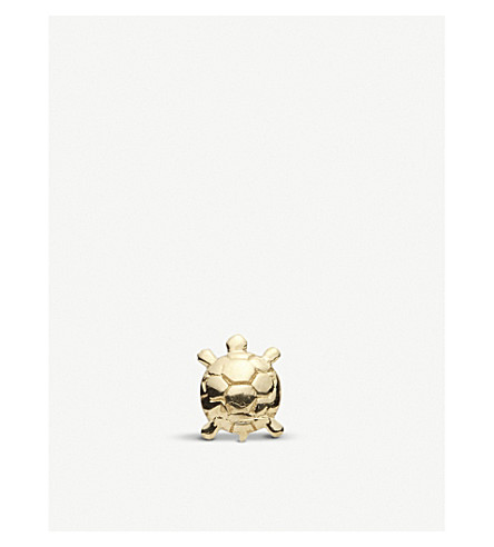 LOQUET Tortoise 18ct gold charm (Yellow+gold