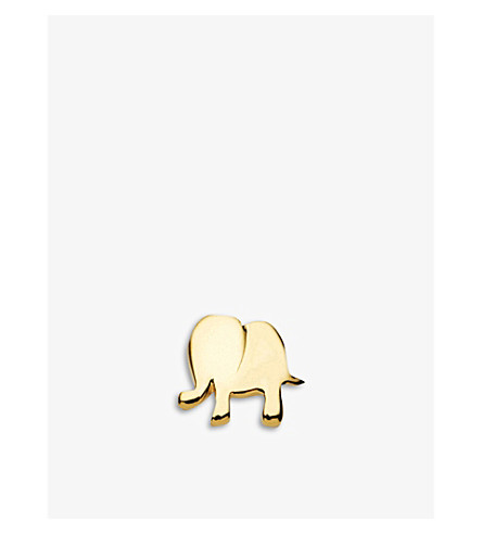 LOQUET Elephant 18ct yellow-gold charm (Yellow+gold