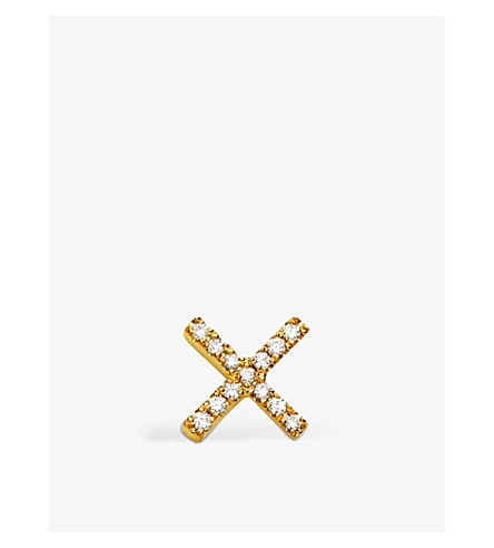 LOQUET Diamond Kiss 18ct yellow-gold and white diamond charm (Yellow+gold