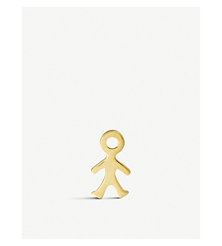 LOQUET For Him 18ct yellow-gold boy charm (Yellow+gold