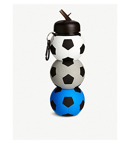 SMIGGLE Football silicone water bottle (Blue