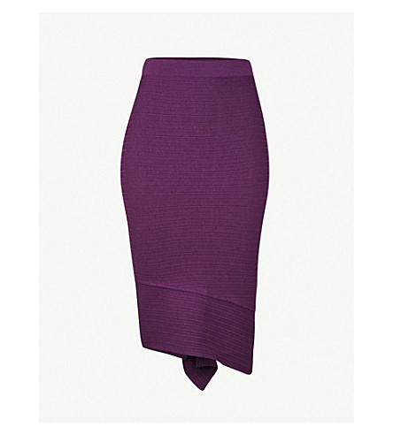 PINKO Undercloser wool-blend skirt (Viola+pensiero