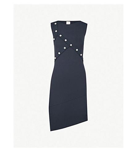 PINKO Campanula ribbed-knit dress (Blu+dipinto