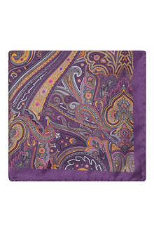 TED BAKER Yearone paisley print pocket square
