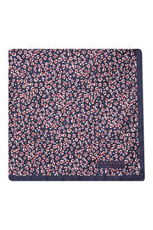 TED BAKER Printed animal print pocket square