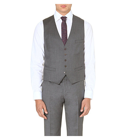 TED BAKER Waydec wool vest (Grey