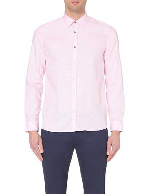 TED BAKER Regular-fit micro-stripe shirt